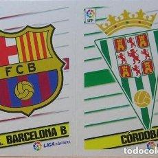 Cromos de Fútbol: 2 ESCUDOS 2ª DIVISION ESTE 13/14. Lote 111090015
