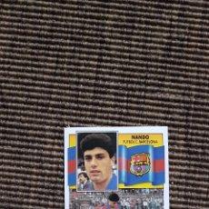 Cromos de Fútbol: CROMO FICHAJE 34 NANDO BARCELONA LIGA ESTE 90 91 1990 1991. Lote 112059923