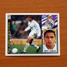 Cartes à collectionner de Football: REAL MADRID - ROBERTO CARLOS - EDICIONES ESTE 1997-1998, 97-98 - NUNCA PEGADO. Lote 112205636