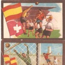 Cromos de Fútbol: PARTIDOS INTERNACIONALES – SERIE A. CHOCOLATES TUPINAMBA. 17 CROMOS DE 33. 1950. Lote 112215863