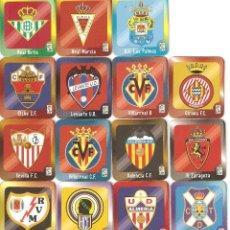 Cromos de Fútbol: MEGA FÚTBOL MAGNETS 2009-2010. JOUCÉO, 2010. LOTE DE 15 ESCUDOS. Lote 112223491
