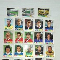 Cromos de Fútbol: PANINI FRANCIA 98 LOTE 33 CROMOS DISTINTOS SIN PEGAR. . Lote 112598439