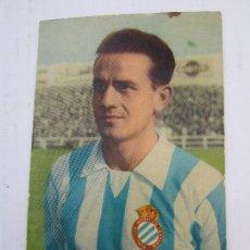 postal , cromo de futbol, R.C.D. Español , jose rivera , años 50 , valderrobres , valderrobles