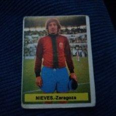 Cromos de Fútbol: LIGA 1975-76 75-76 FINI. DEP. LEGAL MA. REAL ZARAGOZA NIEVES NUNCA PEGADO. Lote 112738014