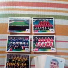 Cromos de Fútbol: FRANCIA 98 FRANCE 98 PANINI LOTE DE 65.CROMOS DIFERENTES SIN PEGAR. Lote 112784083