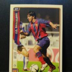 Cromos de Fútbol: CROMO CARD MESSI FICHAS DE LA LIGA 2005. Lote 113009164