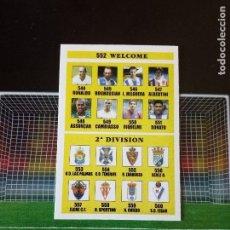 Cromos de Fútbol: 552 INDICE WELCOME + 2ª DIVISION CROMOS FICHAS ALBUM MUNDICROMO LIGA FUTBOL 2002 2003 02 03. Lote 113246215