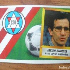 Cromos de Fútbol: CROMO ESTE LIGA 88 89 JAVIER IRURETA (LOGROÑES) ENTRENADOR - RECORTADO - 1988 1989. Lote 113246643