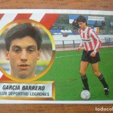 Cromos de Fútbol: CROMO ESTE LIGA 88 89 GARCIA BARRERO (LOGROÑES) - RECORTADO - 1988 1989. Lote 113246991