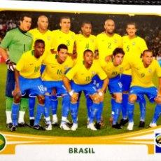 Cromos de Fútbol: 486 EQUIPO ALINEACIÓN - BRASIL - MUNDIAL SUDAFRICA 2010 PANINI STICKER FIFA WORLD CUP SOUTH AFRICA. Lote 113247079