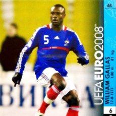 Cromos de Futebol: 44 WILLIAM GALLAS - FRANCIA - UEFA EURO 2008 08 - PANINI TRADING CARD GAME - AUSTRIA Y SUIZA. Lote 113399835