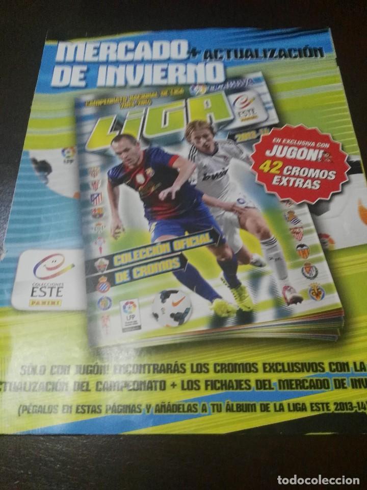 31 CROMOS MERCADO FICHAJES INVIERNO ACTUALIZACION ESTE 2013 2014 13 14 CON ALBUM VACIO (Coleccionismo Deportivo - Álbumes y Cromos de Deportes - Cromos de Fútbol)