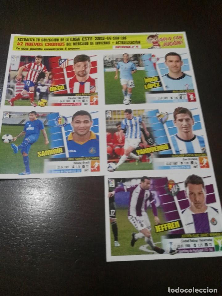 Cromos de Fútbol: 31 cromos MERCADO FICHAJES INVIERNO ACTUALIZACION ESTE 2013 2014 13 14 con album vacio - Foto 2 - 113403859