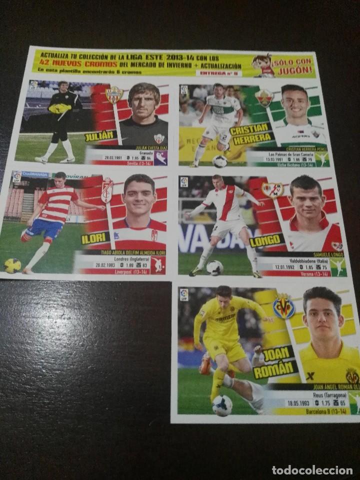 Cromos de Fútbol: 31 cromos MERCADO FICHAJES INVIERNO ACTUALIZACION ESTE 2013 2014 13 14 con album vacio - Foto 3 - 113403859
