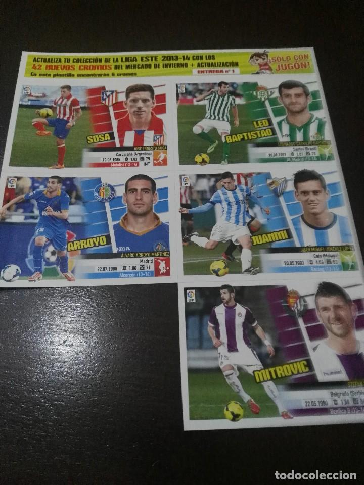 Cromos de Fútbol: 31 cromos MERCADO FICHAJES INVIERNO ACTUALIZACION ESTE 2013 2014 13 14 con album vacio - Foto 4 - 113403859