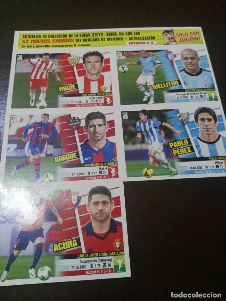 Cromos de Fútbol: 31 cromos MERCADO FICHAJES INVIERNO ACTUALIZACION ESTE 2013 2014 13 14 con album vacio - Foto 5 - 113403859