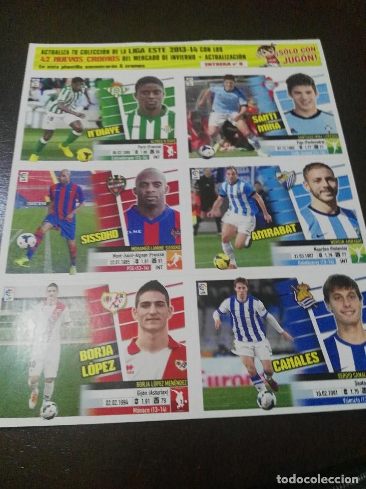 Cromos de Fútbol: 31 cromos MERCADO FICHAJES INVIERNO ACTUALIZACION ESTE 2013 2014 13 14 con album vacio - Foto 7 - 113403859