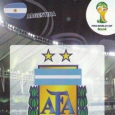 Cromos de Fútbol: FIFA WORLD CUP 2014 BRAZIL ADRENALYN XL ARGENTINA TEAM LOGO ESCUDO MADE IN ITALIA. Lote 113447075