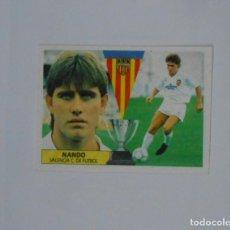 Cromos de Fútbol: CROMO DE NANDO. VALENCIA C.F. LIGA 87-88. TDKP1. Lote 113853227