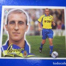 Cromos de Fútbol: ARREGI BAJA VILLARREAL ALBUM LIGA ESTE 2000 2001 00 01 CROMO DESPEGADO MIRAR FOTOGRAFIAS. Lote 113915915
