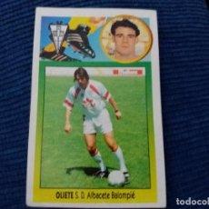 Cromos de Fútbol: 93/94 ESTE. NUNCA PEGADO ADHESIVO ALBACETE OLIETE. Lote 114081615