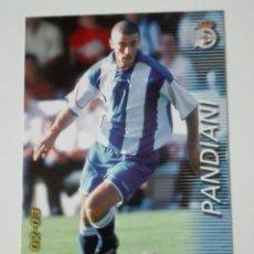 Cromos de Fútbol: MEGAFICHAS 2002-03 PANINI. PANDIANI (DEPORTIVO) Nº 126. Lote 114107775