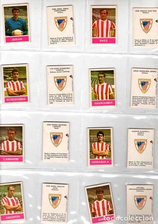 LOTE DE 18 CAJAS FRONTALES DE CERILLAS ATLETICO BILBAO. AÑOS 70. INCLUYE BIOGRAFIA DE JUGADOR (Coleccionismo Deportivo - Álbumes y Cromos de Deportes - Cromos de Fútbol)