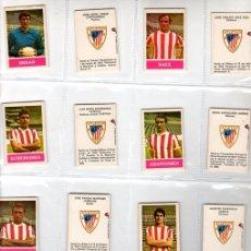 Cromos de Fútbol: LOTE DE 18 CAJAS FRONTALES DE CERILLAS ATLETICO BILBAO. AÑOS 70. INCLUYE BIOGRAFIA DE JUGADOR. Lote 151346446