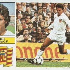 Cromos de Fútbol: VALENCIA TEMPORADA 81-82 RIBES..............PERFECTO. Lote 114700427