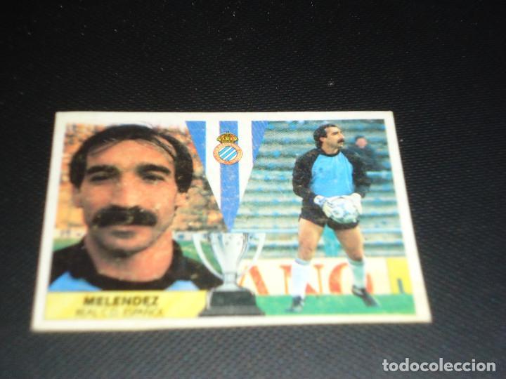 CROMO ESTE 87 88 - MELENDEZ , DEL ESPAÑOL - NUNCA PEGADO ( PEDIDO MINIMO 5 EUROS ) (Coleccionismo Deportivo - Álbumes y Cromos de Deportes - Cromos de Fútbol)