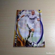 Cromos de Fútbol: MUNDICROMO 2010 2011 10 11 FICHAS QUIZ LIGA. PEPE Nº 34 CORREGIDO (REAL MADRID) CROMO LIGA FÚTBOL. Lote 115093191