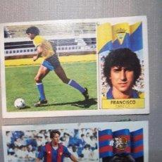 Cromos de Fútbol: CROMOS LIGA 86/87 LINEKER Y FRANCISCO NUEVO. Lote 115332259