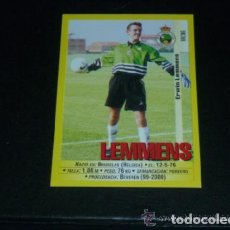 Cromos de Fútbol: PANINI LIGA 1999 2000 - 285A LEMMENS - R. RACING CLUB SANTANDER - 99 00 -. Lote 115402195