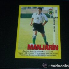 Cromos de Fútbol: PANINI LIGA 1999 2000 - 281A MANJARÍN - R. RACING CLUB SANTANDER - 99 00 -. Lote 115402731