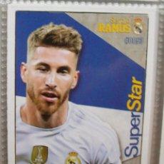 Cromos de Fútbol: 53 SERGIO RAMOS REAL MADRID FICHA SUPERSTAR MUNDICROMO 2015 2016 15 16. Lote 222130625
