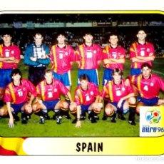 Cromos de Fútbol: 103 EQUIPO ALINEACION - ESPAÑA - UEFA EURO 96 ENGLAND INGLATERRA - EDITORIAL MERLIN - SIN PEGAR. Lote 115725511