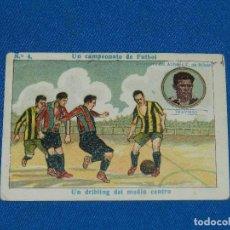 Cromos de Fútbol: CROMO ATH BILBAO - TRAVIESO NUM 4 UN CAMPEONATO DE FUTBOL , CHOCOLATE AMATLLER. Lote 116087099