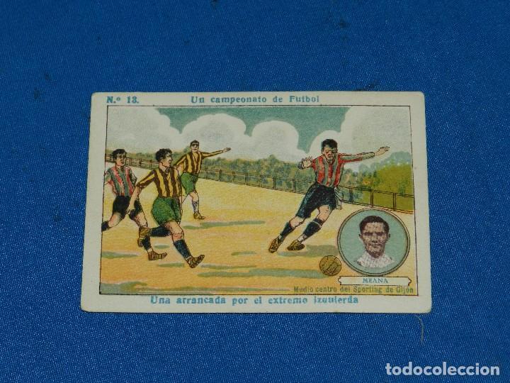SPORTIN DE GIJON - MEANA NUM 13 UN CAMPEONATO DE FUTBOL, CHOCOLATE AMATLLER (Coleccionismo Deportivo - Álbumes y Cromos de Deportes - Cromos de Fútbol)