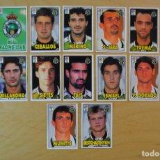Cromos de Fútbol: BIMBO (PASTELITOS BONY Y TIGRETON) - LIGA 98-99 1998-1999 - RACING DE SANTANDER COMPLETO. Lote 116128575