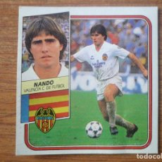 Cromos de Fútbol: CROMO LIGA ESTE 89 90 NANDO (VALENCIA) - DESPEGADO - 1989 1990. Lote 116267515