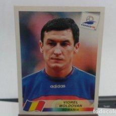 Cromos de Fútbol: CROMO PANINI FRANCE 98 DEL ALBUM DE DANONE ( VIOREL MOLDOVAN ) ROMANIA NUEVO SIN PEGAR. Lote 116384475