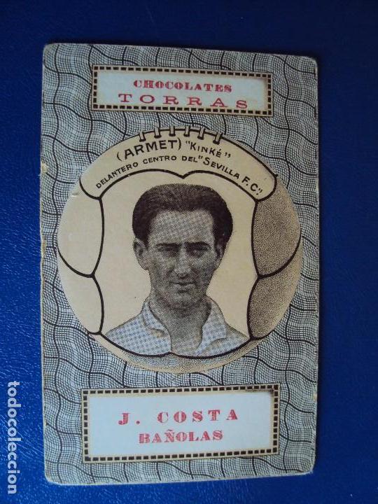 (F-180400)NAIPE CHOCOLATES TORRAS - ARMET (KINKE) SEVILLA F.C. (Coleccionismo Deportivo - Álbumes y Cromos de Deportes - Cromos de Fútbol)