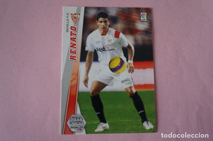 CROMO CARD DE FÚTBOL RENATO DEL SEVILLA F.C. Nº 281 LIGA MEGACRACKS 2008-2009/08-09 (Coleccionismo Deportivo - Álbumes y Cromos de Deportes - Cromos de Fútbol)
