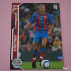 Cromos de Fútbol: CROMO CARD DE FÚTBOL LARSSON DEL F.C.BARCELONA Nº 74 LIGA MEGACRACKS 2005-2006/05-06. Lote 117319731
