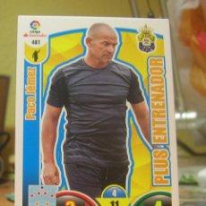 Cromos de Fútbol: ADRENALYN XL 2017-2018 17 18 Nº 481 PACO JEMEZ (LAS PALMAS) PLUS ENTRENADOR. Lote 119299414