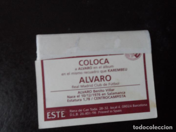 Cromos de Fútbol: ALVARO COLOCA DEL REAL MADRID ALBUM ESTE LIGA 1998 - 1999 ( 98 - 99 ) - Foto 2 - 117590307