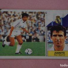 Cromos de Fútbol: CROMO DE FÚTBOL JUANITO DEL REAL MADRID C.F. DESPEGADO LIGA ESTE 1986-1977/86-87. Lote 148245802