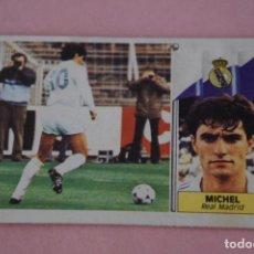 Cromos de Fútbol: CROMO DE FÚTBOL MICHEL DEL REAL MADRID C.F. DESPEGADO LIGA ESTE 1986-1977/86-87. Lote 148245818