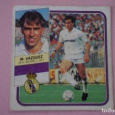 Cromos de Fútbol: CROMO DE FÚTBOL MARTIN VAZQUEZ DEL REAL MADRID C.F. DESPEGADO LIGA ESTE 1989-1990/89-90. Lote 148245984