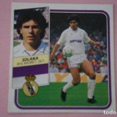 Cromos de Fútbol: CROMO DE FÚTBOL SOLANA DEL REAL MADRID C.F. DESPEGADO LIGA ESTE 1989-1990/89-90. Lote 148246025